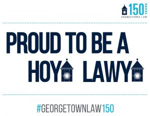 Printable sign that reads Proud to be a Hoya Lawya