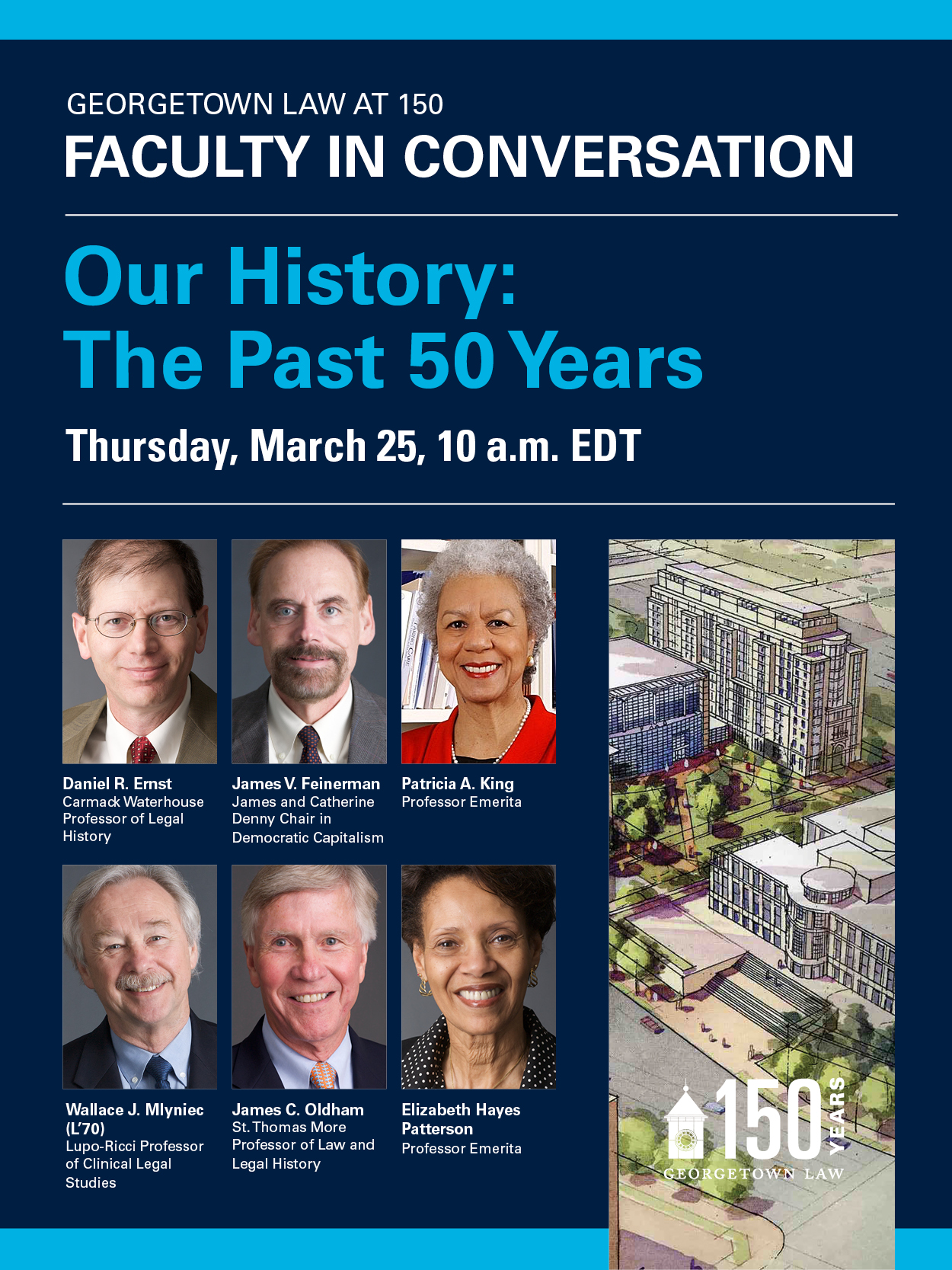 Promotional Graphic Image for 150th Anniversary Virtual Event_Our History - the Past 50 Years