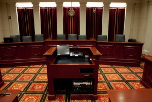 view of the model supreme court at Georgetown