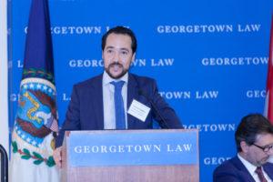 Professor Santos delivering the welcome address