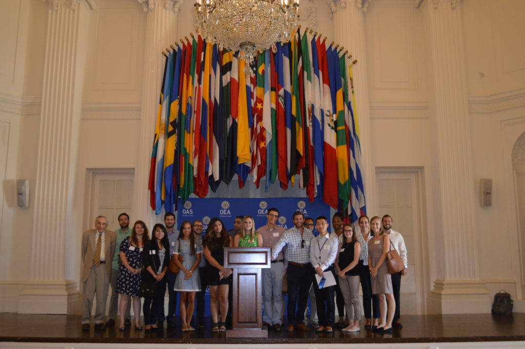 Georgetown Law students at the OAS Hall of the Americas