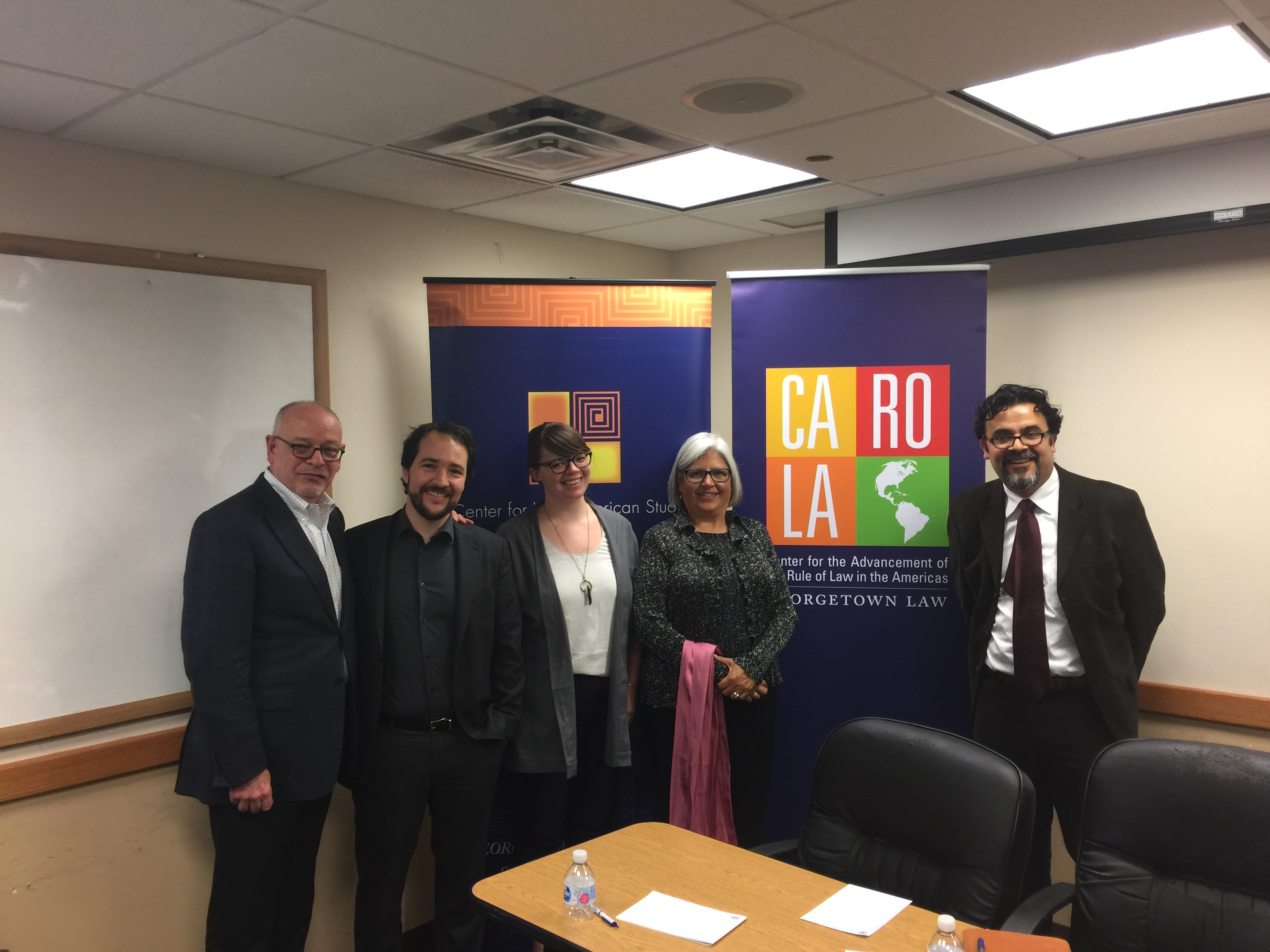 Professor Santos with authors and discussants at book talk