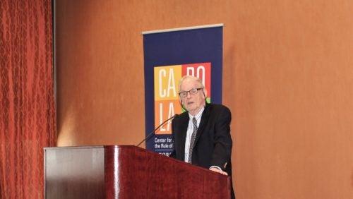 Professor Trebilcock presenting at the Colloquium