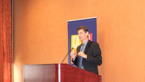 Professor Shaffer presenting at the colloquium