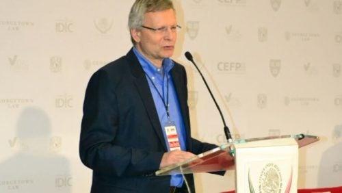 Dani Rodrik delivering keynote speech