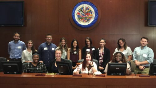 Georgetown Law students at the OAS Simon Bolivar Room