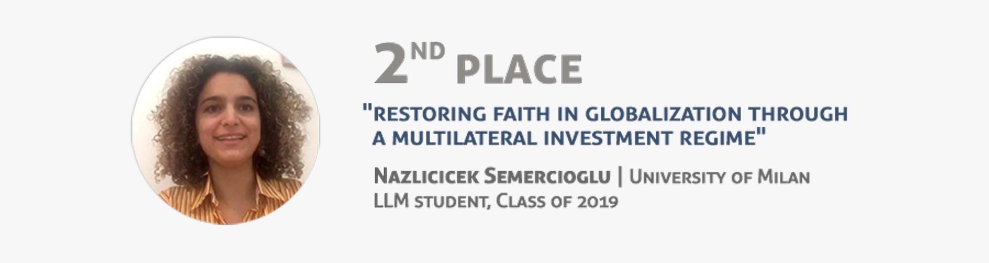 Second place - Nazlicicek Semercioglu - University of Milan