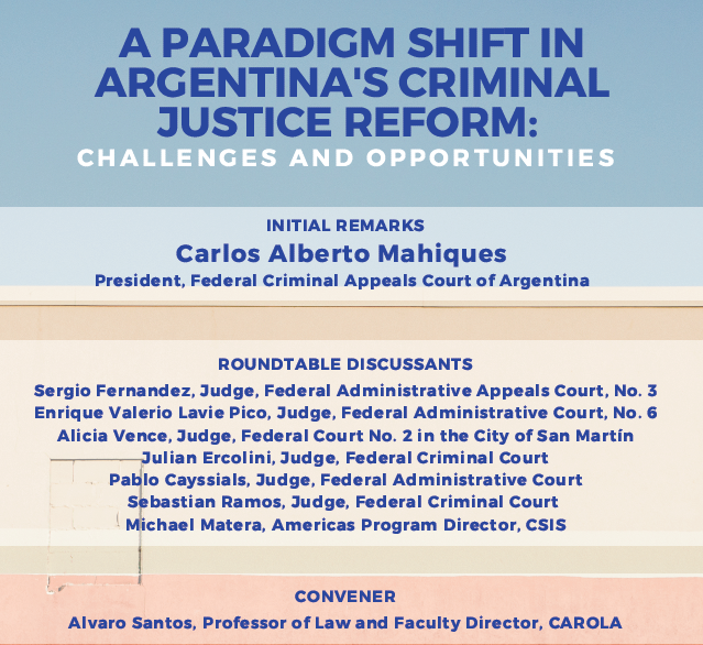 Flyer with names of discussants