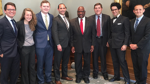Students Meeting with Justice Thomas