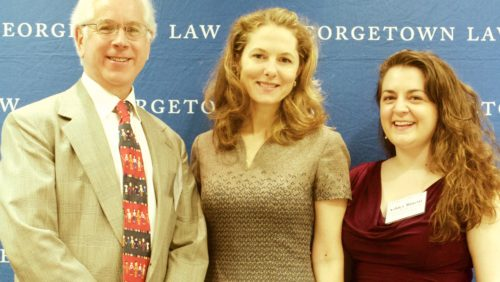 Professor Andy Schoenholtz, HRH PRincess Sarah Zeid, and HRI Dash-Muse Fellow Ashley Binetti at the 2018 Dash Conference.