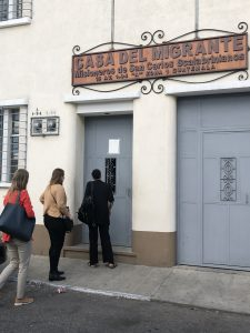 Casa Del Migrante - Exterior with HRI fact-finding students