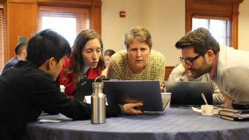 Trade Academy Participants solve a problem