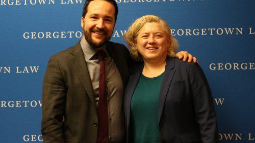 Georgetown Professors Alvaro Santos and Mara Burr
