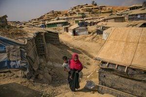 Rohingya Woman in Refugee Camp