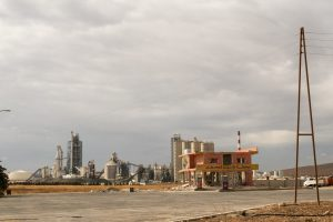 The Lafarge cement factory in Ar Raqqa, Syria