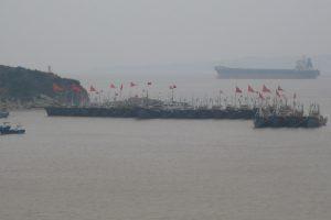 Fishing boats in Xiandie, China