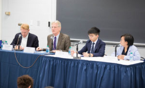 Michael Davis, Bonnie Leung and Joshua Wong on Hong Kong Panel