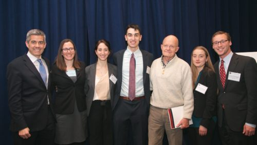 The Penn Law team had the privilege of meeting their team's mentor, former Director of National Intelligence James Clapper, at the sim
