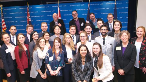 Georgetown hosted nine sim teams from Canadian law schools