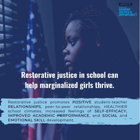 RJ in schools can help marginalized girls
