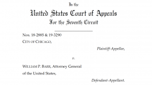 """A picture of the opening text of the 7th Circuit's ruling in """"City of Chicago v Barr"""""""