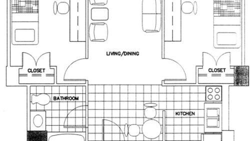 Two-Bedroom Apartment Floorplan