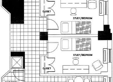 Updated Large Three-Bedroom Efficiency Apartment Floorplan