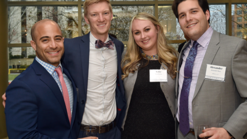 Alumni mingle at The Georgetown Law Journal Alumni Banquet with special guest Paul Clement (F'88) on Saturday, March 25, 2017.