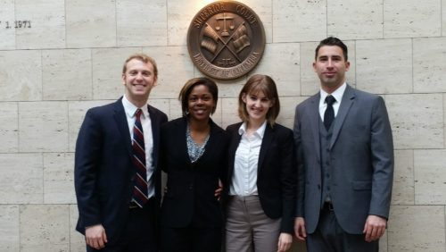 Students pose for a photograph in DC Superior Court