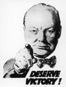 Poster: Winston Churchill Says We Deserve Victory