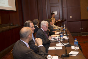 The November 15 panel on Capitol Hill included experts David Goodfriend, Jerald Fritz, Andrew Schwartzman, Jim Winston, Carmen Scurato, Eddie Lazarus and Rebecca Hanson--as well as Gigi Sohn of Georgetown's Institute for Technology Law & Policy.