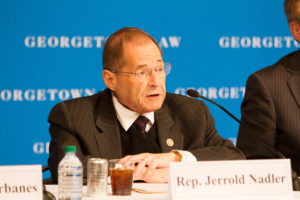 House Judiciary Committee Ranking Member Jerrold Nadler (D-NY) speaks at a forum convened by Georgetown Law's Center for Congressional Studies on April 19.
