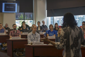 Participants at the Juvenile Training Immersion Program at Georgetown Law honed their skills with experts including Associate Dean Kristin Henning (LL.M.'97).