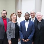 Group photo of Campus Ministry chaplains and staff