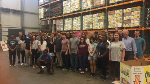 Capitol Area Food Bank participants pose for a group photo