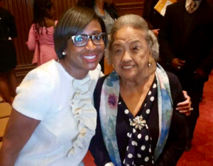 Photo of Keonna Carter (LL.M.'13) with Cissy Marshall in 2017.