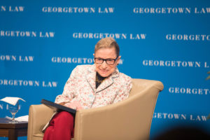 Supreme Court Justice Ruth Bader Ginsburg spoke to Georgetown Law students in Hart Auditorium on September 26.