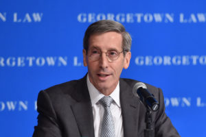 Federal Trade Commission Chair Joseph Simons (L'83) opened a day of FTC hearings at Georgetown Law September 13 on the subject of competition and consumer protection.