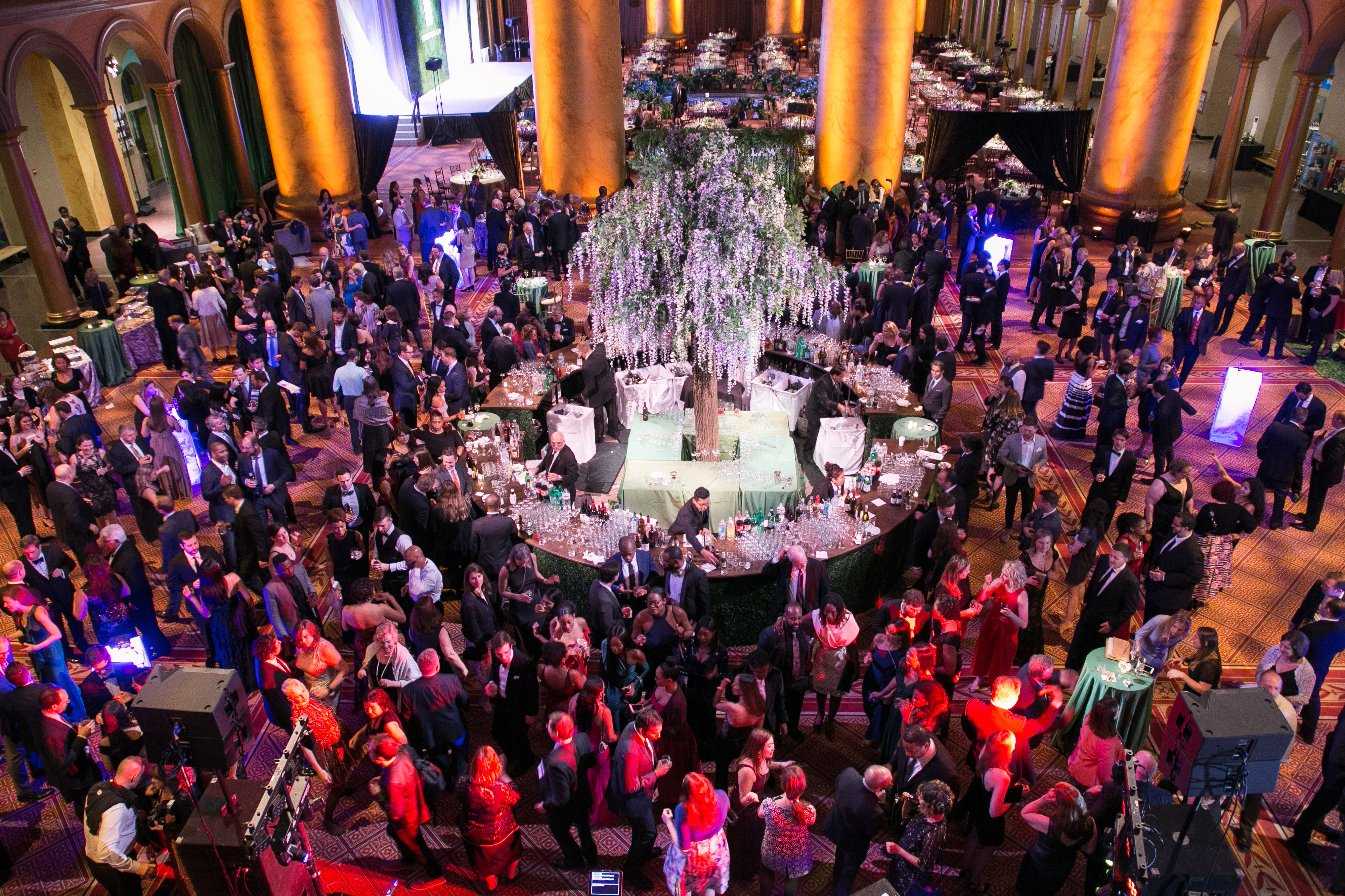 Wide shot of the crowd at the National Building Museum for Reunion 2018