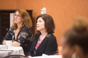 Georgetown Law Professor Deborah Epstein and Georgetown University Adjunct Professor Leslie Crutchfield.