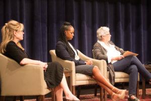 Professors Victoria Nourse, Jamillah Bowman Williams and Robin West.