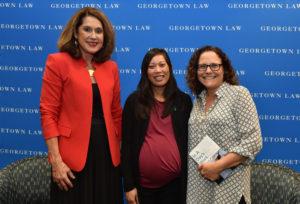 Georgetown Law Professor Jane Aiken, author Bernice Yeung and Professor Naomi Mezey.