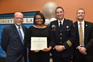 "On October 23, Georgetown Law and Metropolitan Police Department's ""Police for Tomorrow"" Fellowship Program graduated its first cohort of police fellows in a unique program designed to address the challenges of constitutional policing."