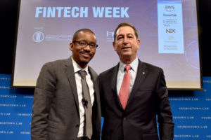 Professor Chris Brummer led conversations with officials including Comptroller of the Currency Joseph Otting during Georgetown Law's Fintech Week.