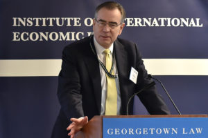 "Chip Harter, Deputy Assistant Secretary for International Tax Affairs at the U.S. Treasury, delivers the keynote address at ""Reimagining Taxation in the Age of Digital Disruption"" at Georgetown Law December 3."