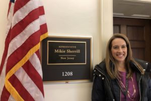U.S. Rep. Mikie Sherrill (L'07)(D-N.J.) returns to Washington, D.C., as a member of Congress.