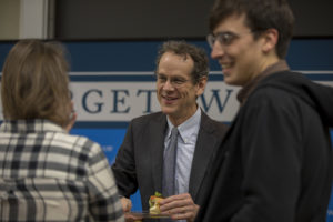 Professor David Cole, who is now serving as the ACLU's national legal director, visited Georgetown Law's ACLU student chapter on February 7.