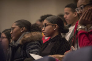 Prince George's County, Maryland, high school students visit Georgetown Law on Wednesday, February 13.
