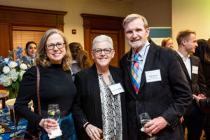 Georgetown Climate Center Executive Director Vicki Arroyo L'94 celebrates GCC's 10th Anniversary with former US EPA Administrator Gina McCarthy and former US Representative Phil Sharp F'64, PHD'74
