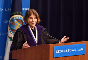 Professor Rosa Brooks, the inaugural Scott K. Ginsburg Professor of Law and Policy.
